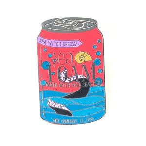 The Little Mermaid Delicious Drinks Soda Can Pin